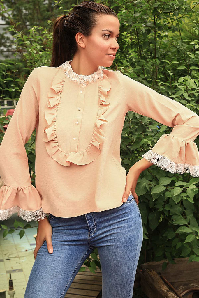 Laced Salmon Blouse