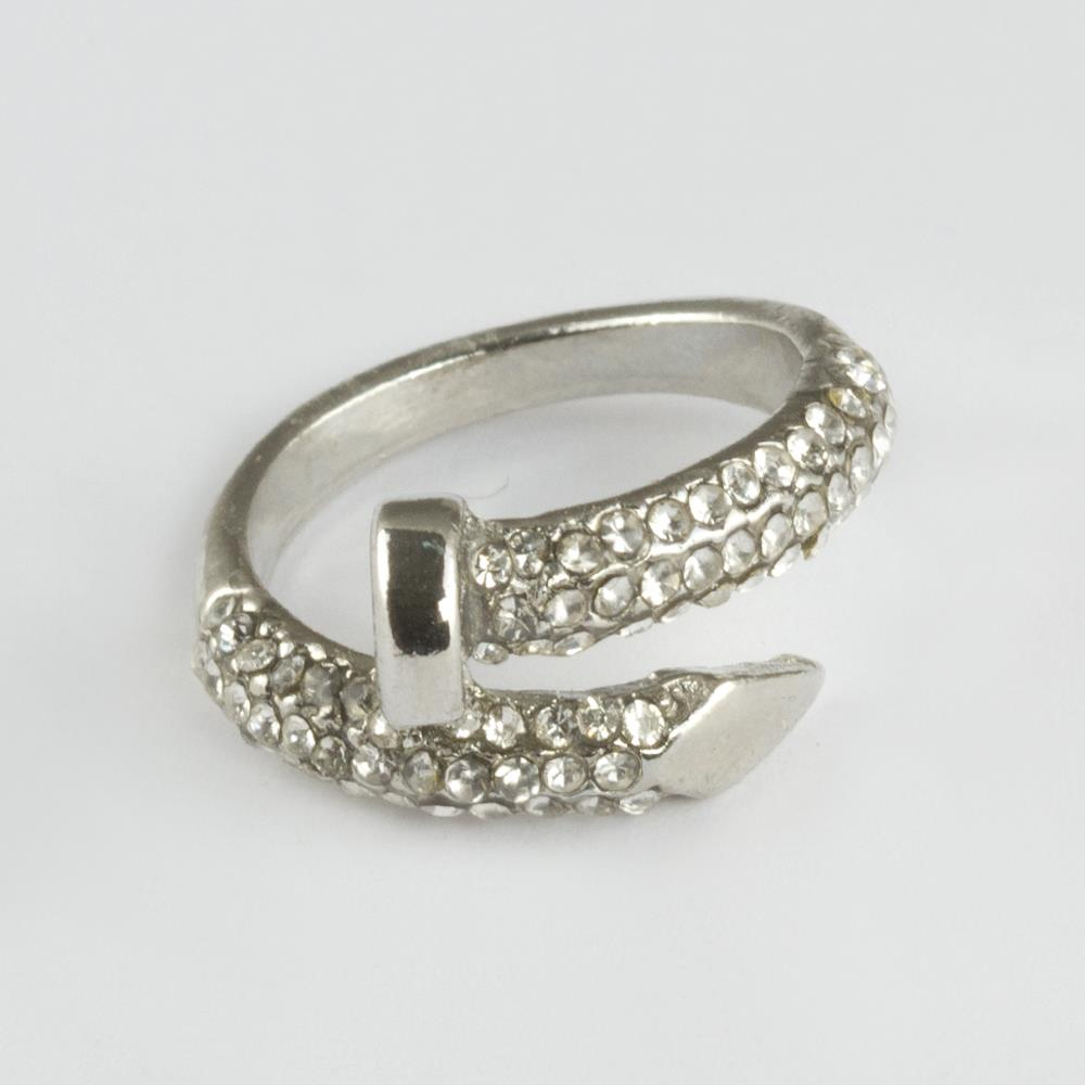 Women's Gemmed Nail Design Ring