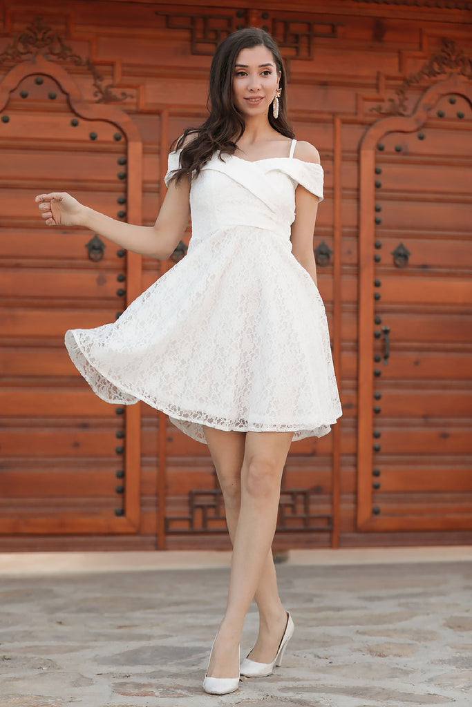 Women's Lace Ecru Dress