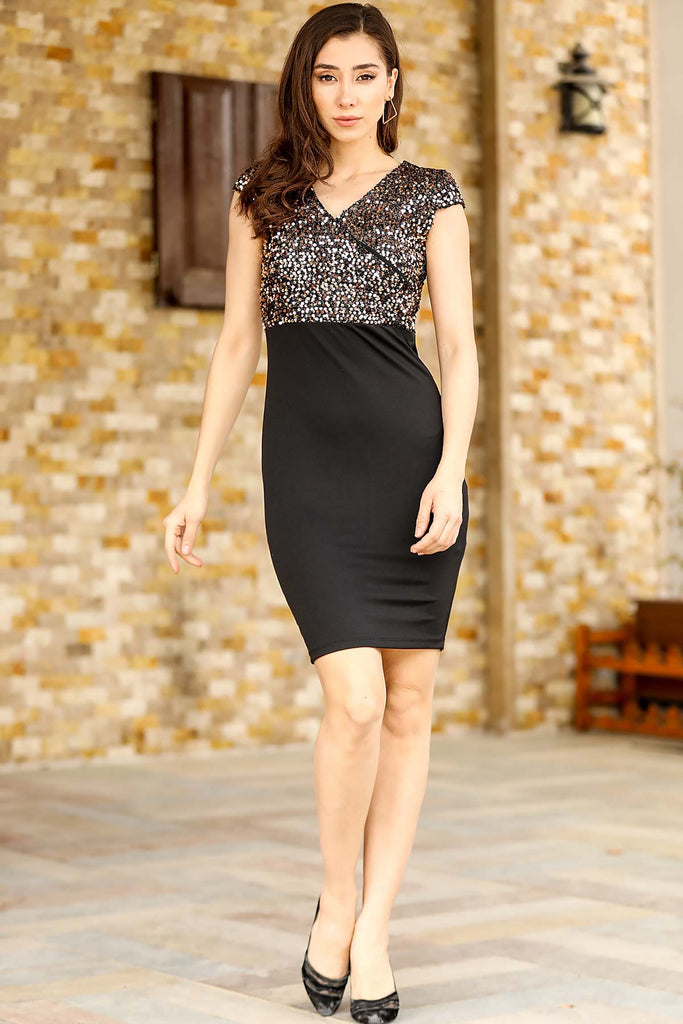 Women's Copper Sequin Top Dress