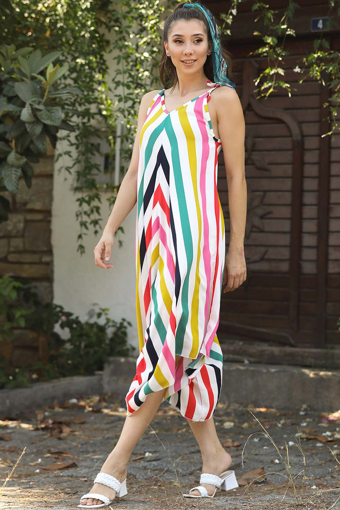 Women's Strappy Striped Overall