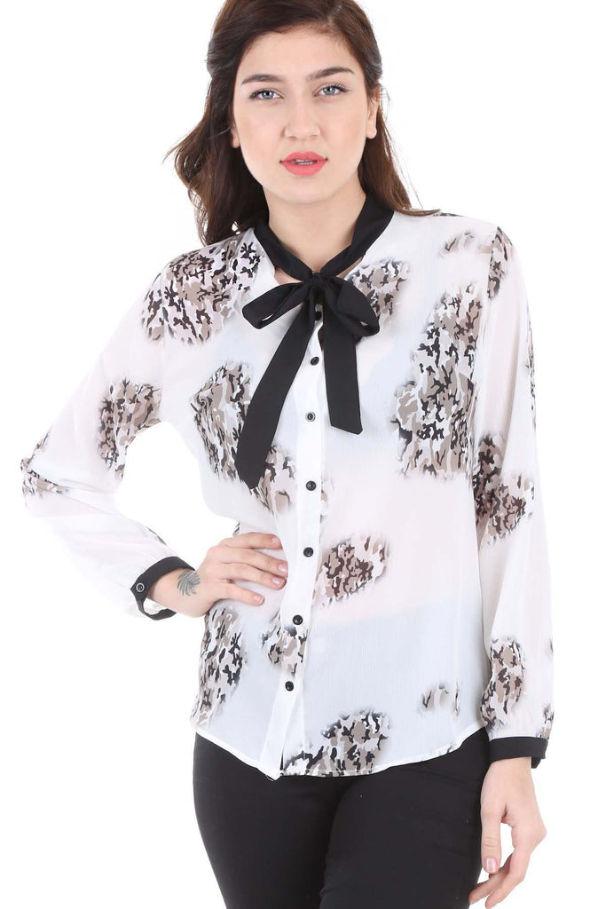 Women's Button Patterned Shirt