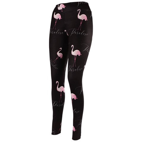 Women's Flamingo Pattern Tights