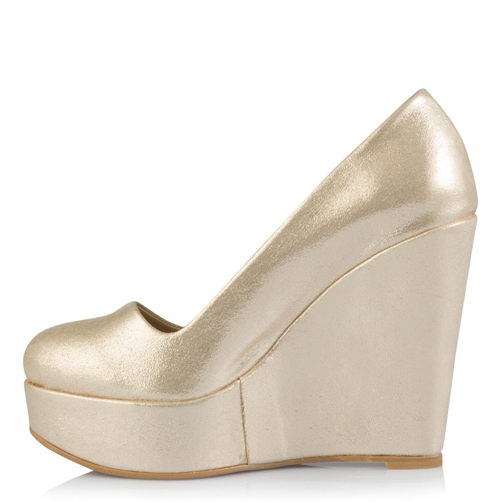 Women's Gold Wedge Shoes
