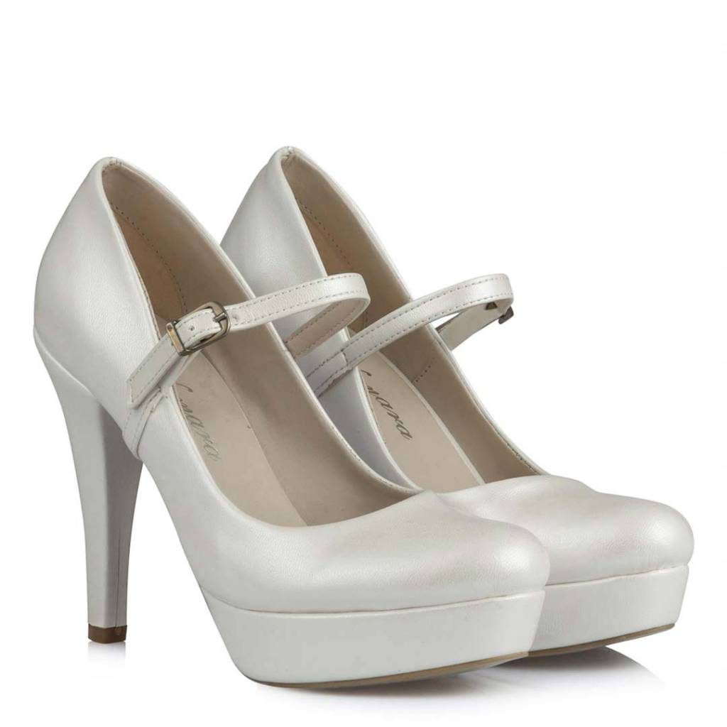 Women's Off-White Wedding Heeled Shoes