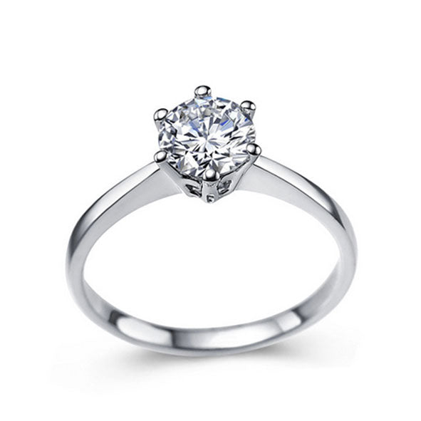 Women's Diamond Gem White Gold Ring