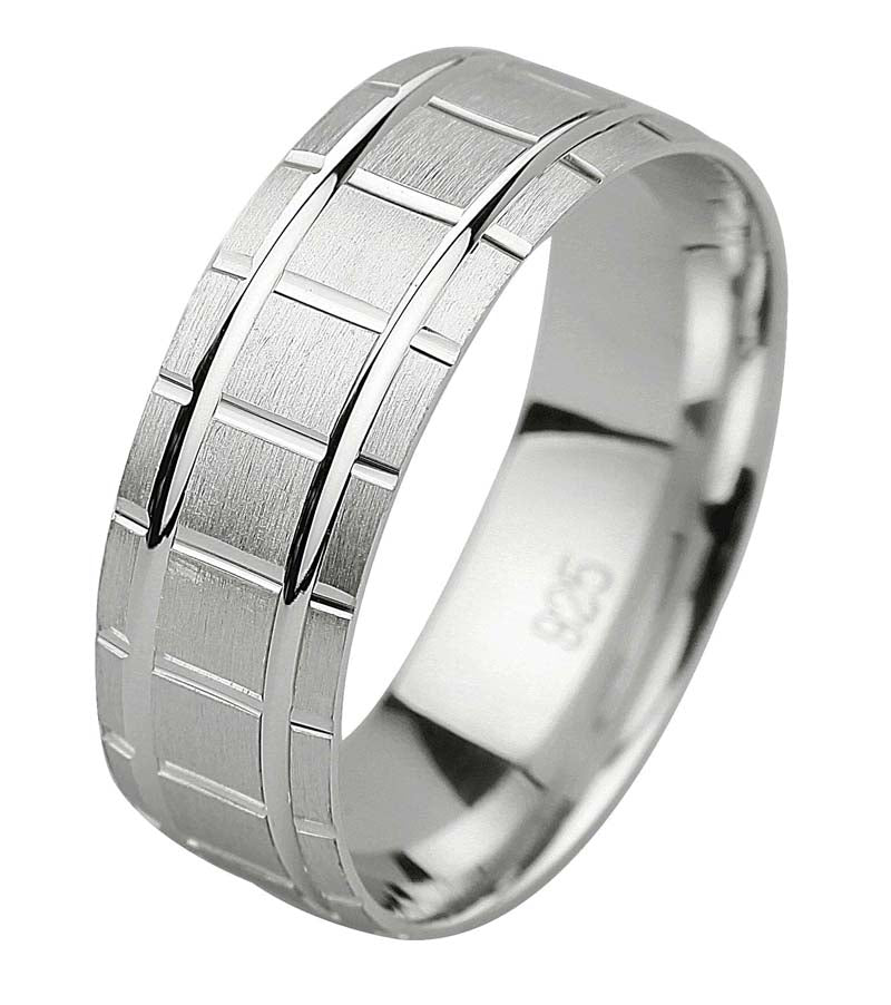Unisex Silver Wedding Ring