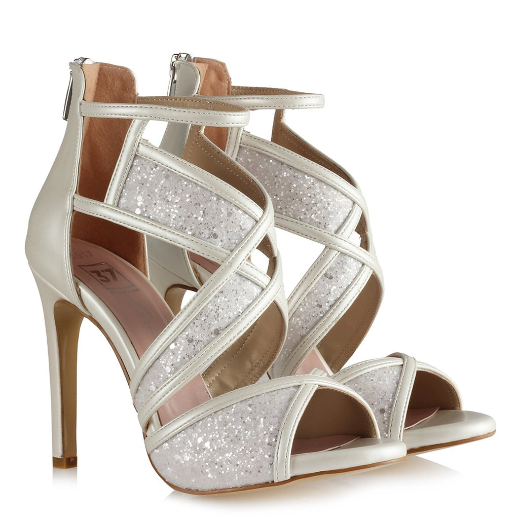 Women's Glitter Bridal Heeled Shoes