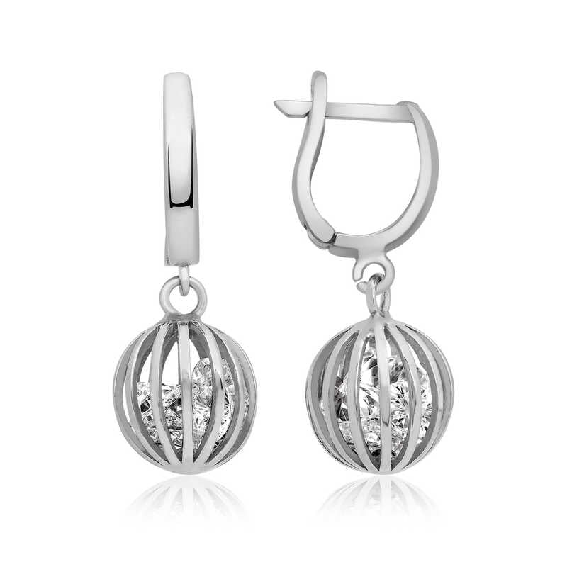 Women's Gemmed Silver Earrings
