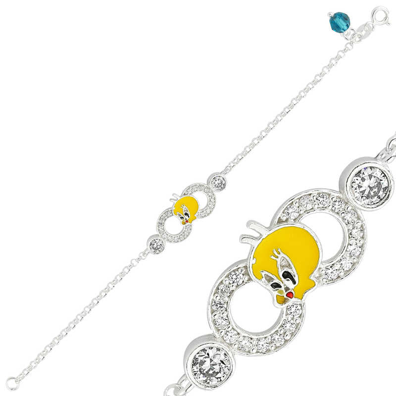 Girl's Tweety Accessory Silver Bracelet