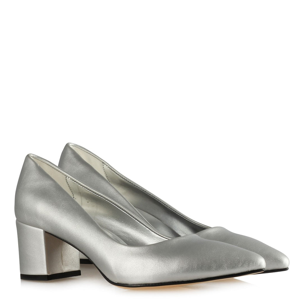 Women's Lamé Matte Heeled Shoes