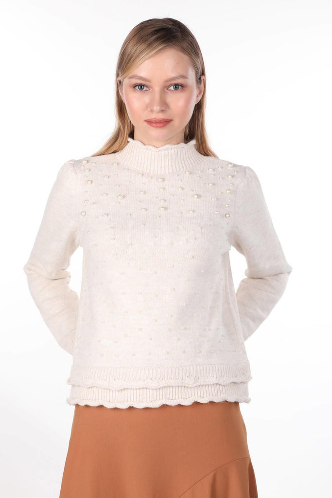 Women's Pearl Detail Sweater