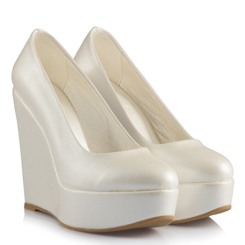 Women's Bridal Wedge Shoes