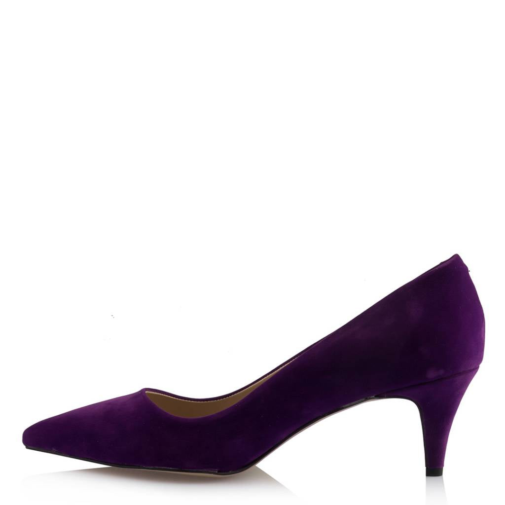 Women's Purple Suede Low Heeled Shoes