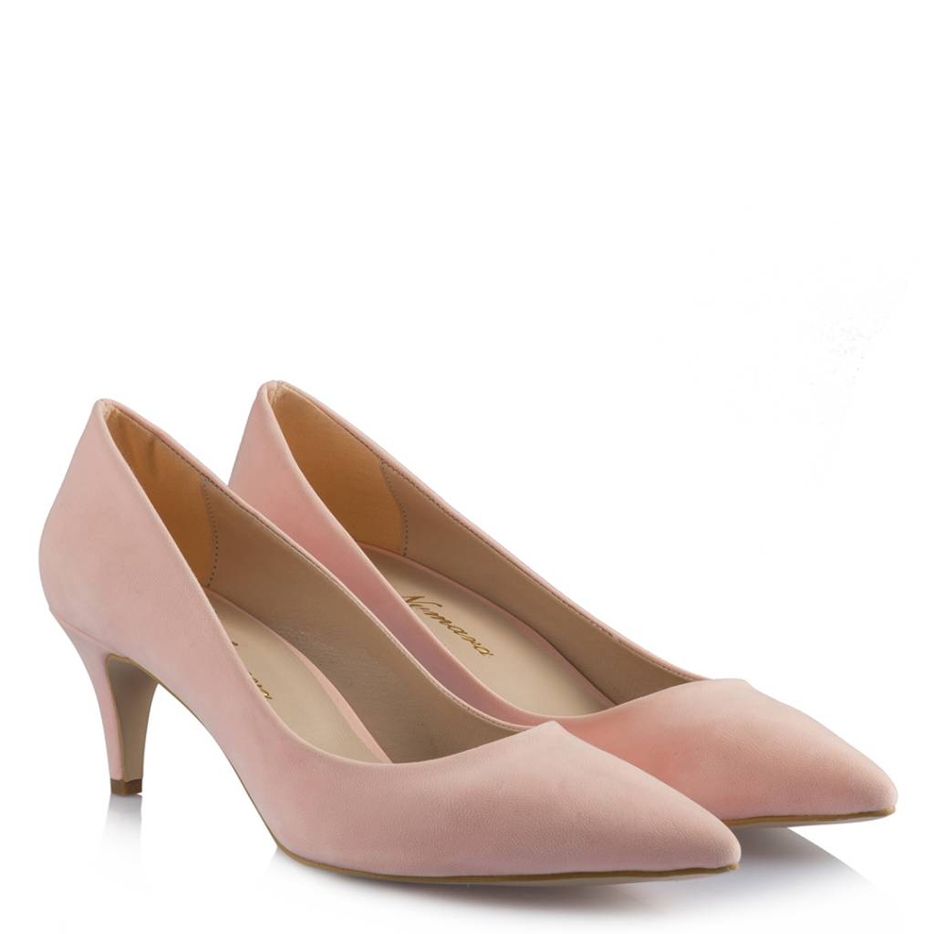 Women's Powder Rose Suede Low Heeled Shoes