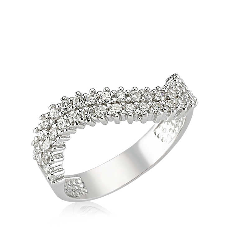 Women's Gemmed Silver Ring