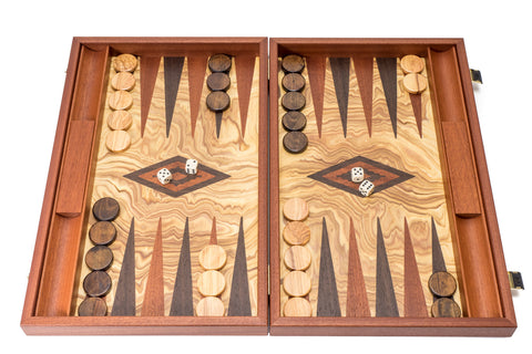 Buy Olive Burl Wood Luxury Backgammon for R 4190.00