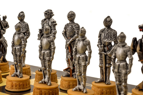 Buy Medieval Armour Resin Chess Set & Board for R 3200.00
