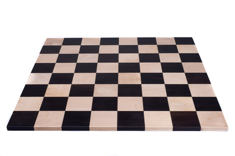 Double Sided Flat Ebony Solid Wood Chess Board