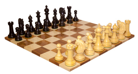 Knight of Malta Ebony Chess  Set