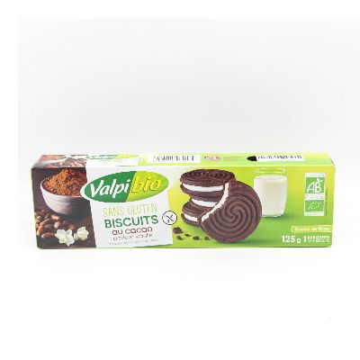 BISCUITS CACAO VANILLE 125G