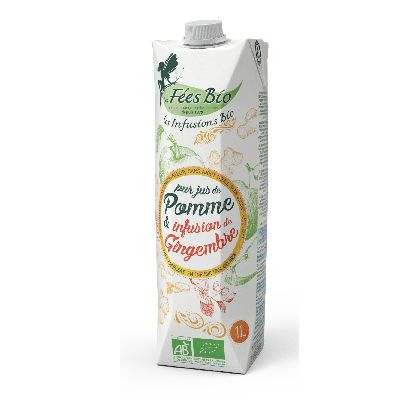JUS POMME & INFUSION GINGEMBRE 1L