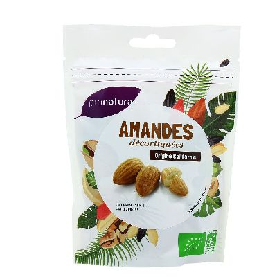 AMANDES DECORTIQUEES USA 125G