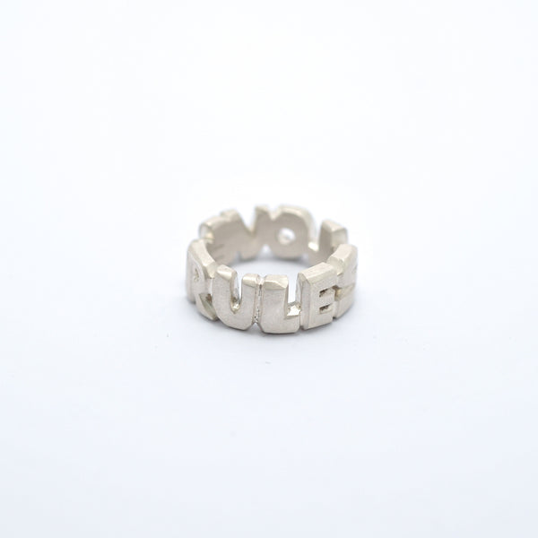 'LOVE RULES' Ring