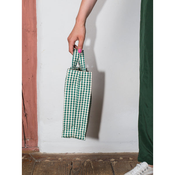 'Cabas' bag small vichy green