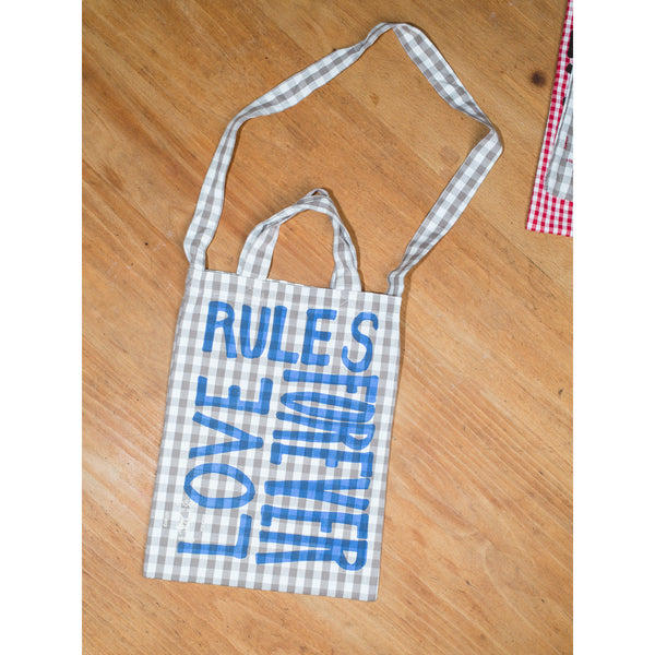'Love Rules Forever Carry All' kids bag moonrock/blue