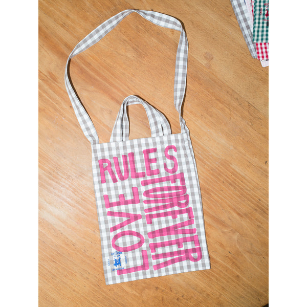 'Love Rules Forever Carry All' kids bag moonrock/pink