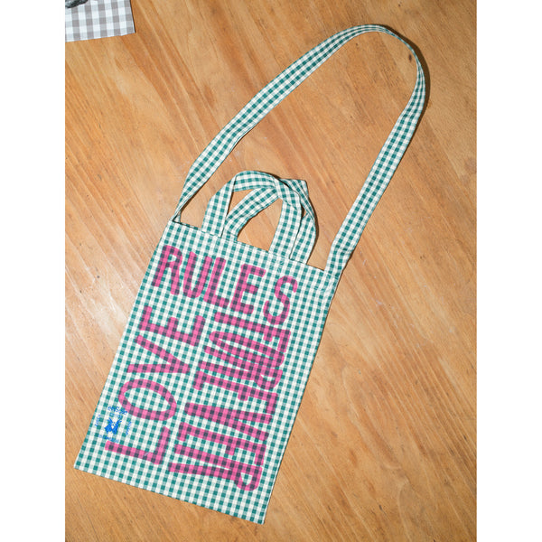 'Love Rules Forever Carry All' kids bag green/pink