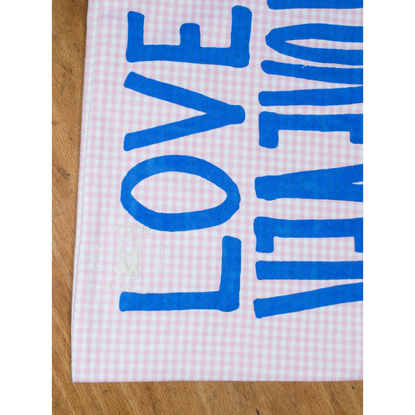 'Love Rules Forever Carry All' kids bag pink/blue