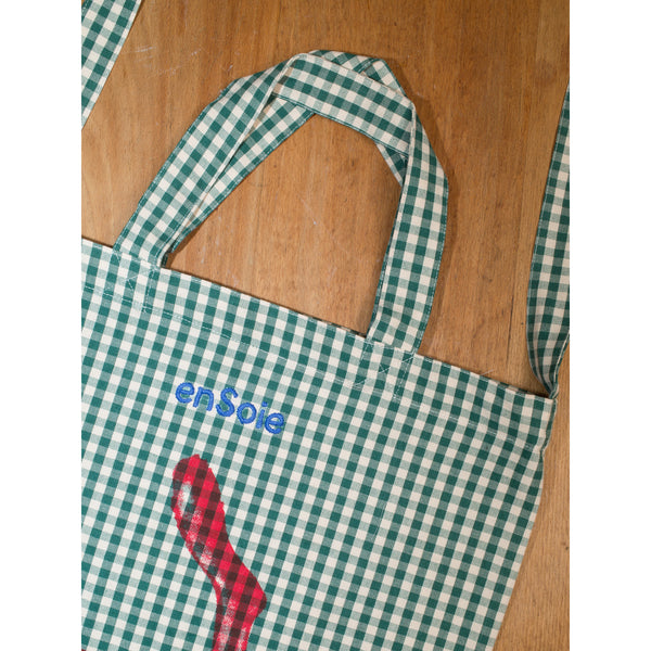 'Rabbit Carry All' bag vichy green