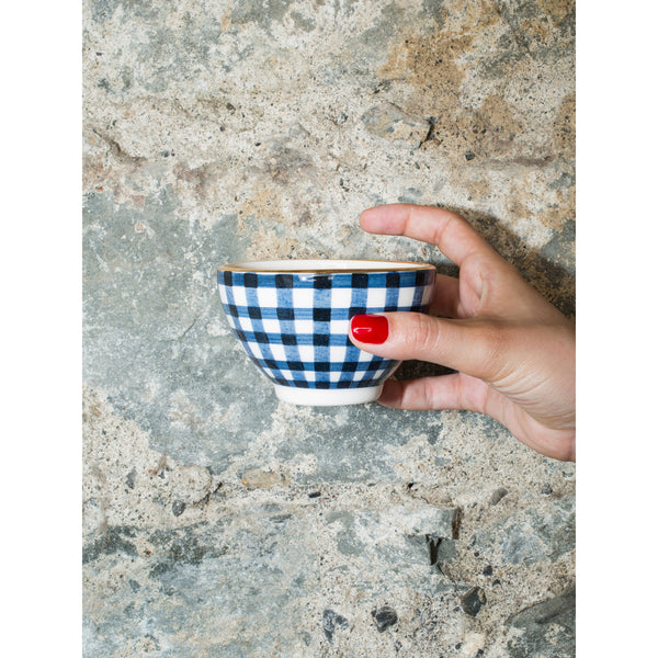 'Billie' mini bowl vichy navy