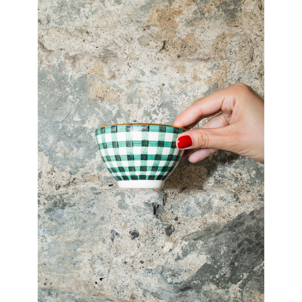 'Billie' mini bowl vichy green