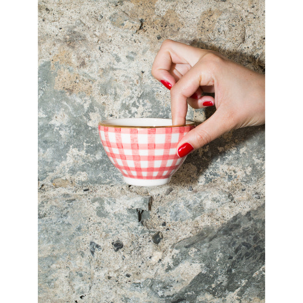'Billie' mini bowl vichy red
