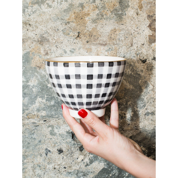 'Billie' breakfast bowl vichy grey
