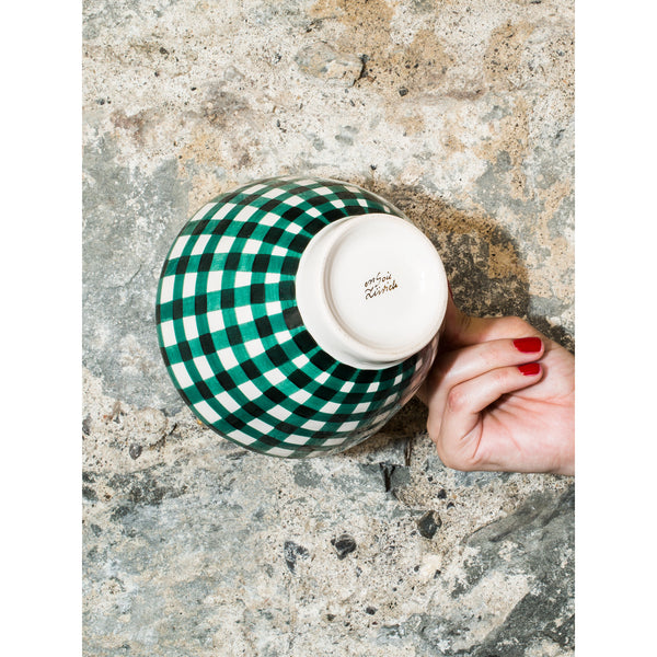 'Billie' breakfast bowl vichy green