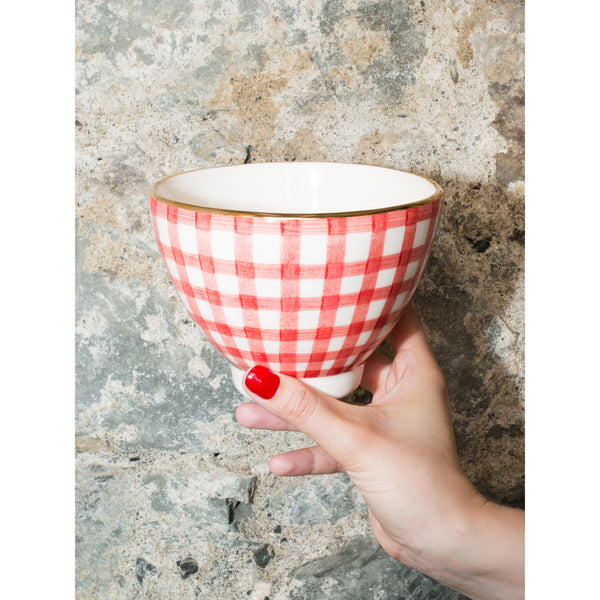 'Billie' breakfast bowl vichy red