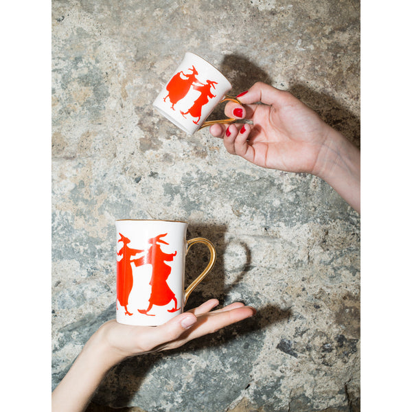 'Rabbit' mug red