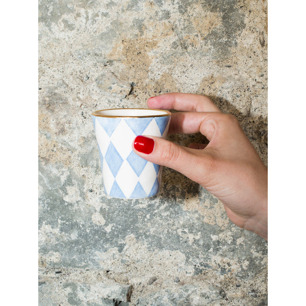 'Sourire Espresso' Cup Diamond baby blue
