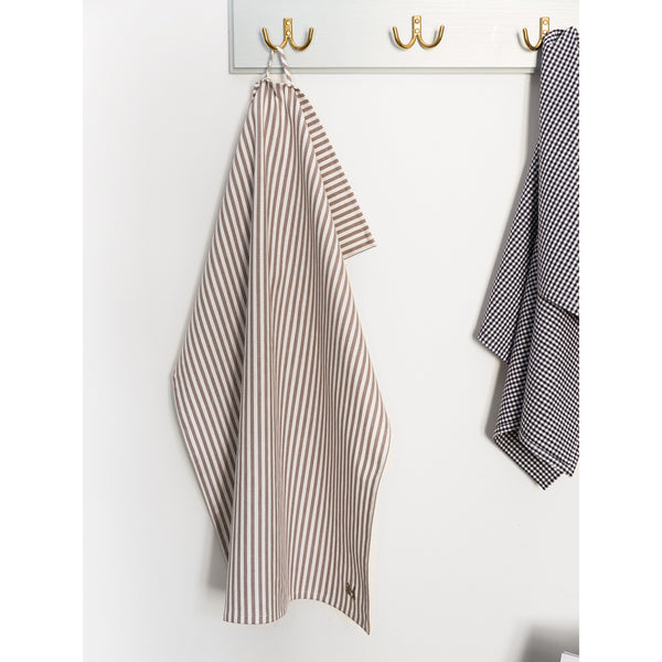 'Kitchen towel' striped grey