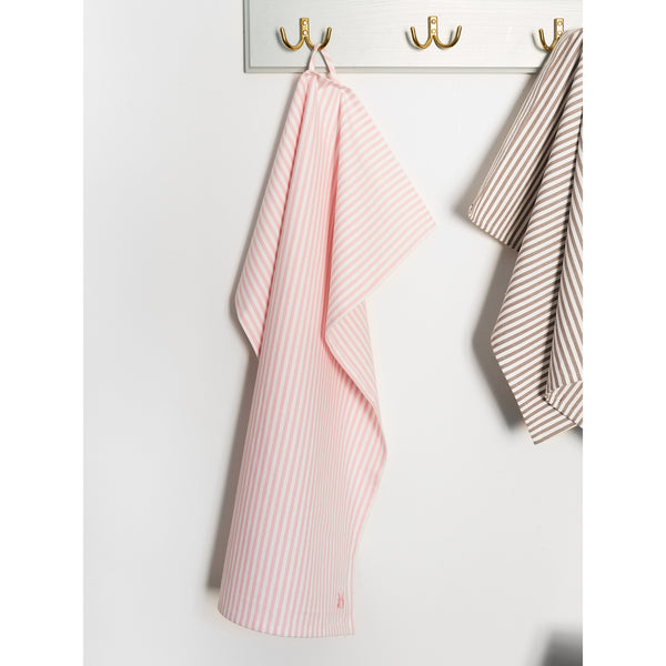 'Kitchen towel' striped pink
