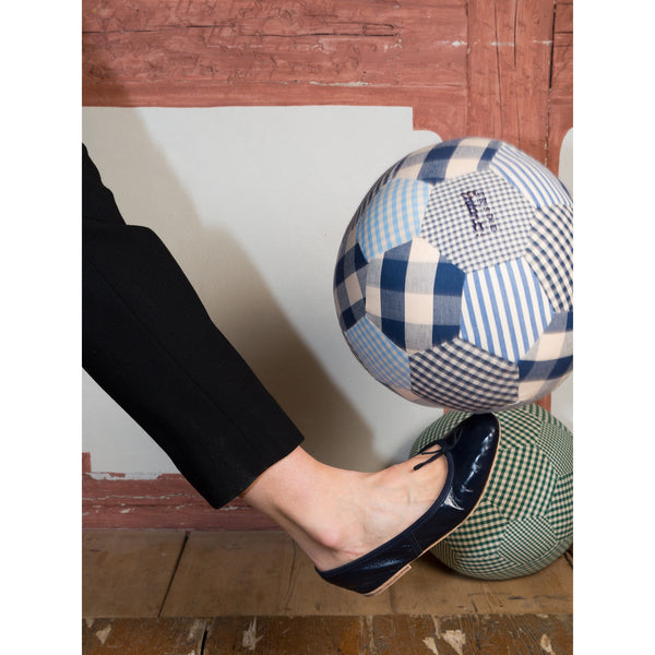 'Enfant' cotton football navy vichy