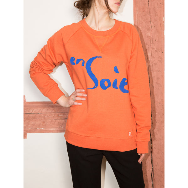 'enSoie unisex' sweatshirt orange