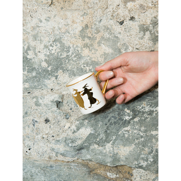 'Rabbit' mug gold