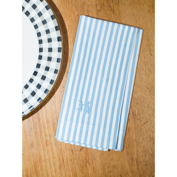 Napkin Striped Light Blue