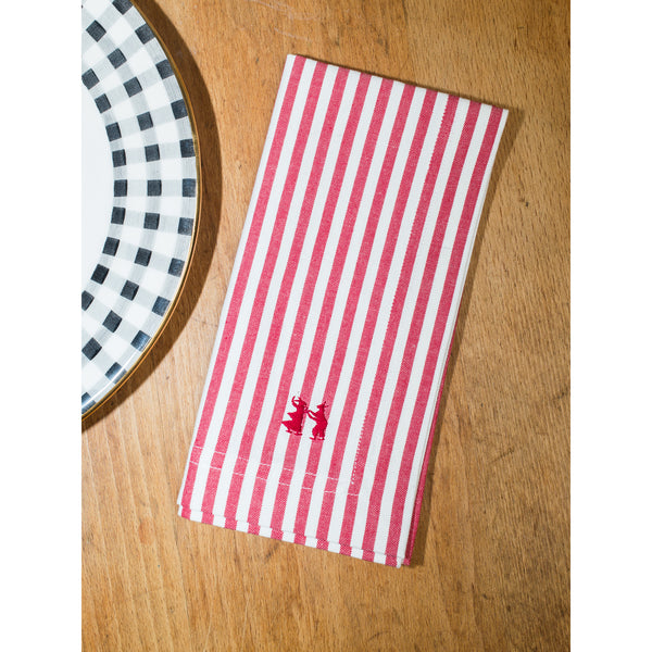 Napkin Striped Red
