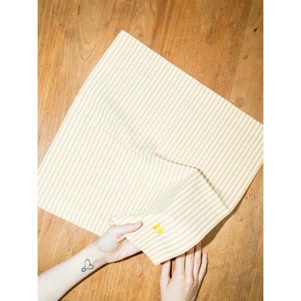 Napkin Striped Yellow